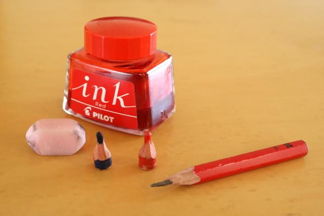 パイロット 赤インク , 赤青鉛筆