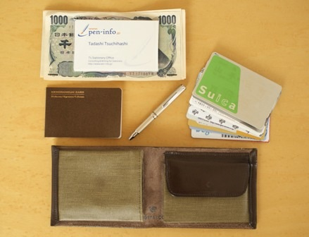 ポスタルコ  Pressed Cotton Billfold Fabric & Leather