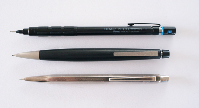 ぺんてる グラフ1000 カランダッシュ エクリドール ペリカン D400 シャープペンシル 0.7mm