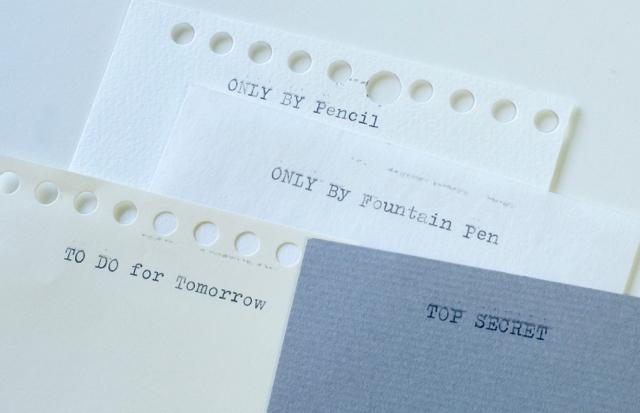 オリベッティ バレンタイン タイプライター オリジナルメモを作る