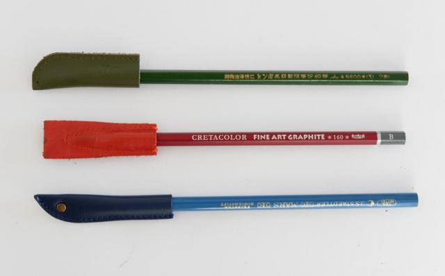 鉛筆キャップ 革製 レザー
